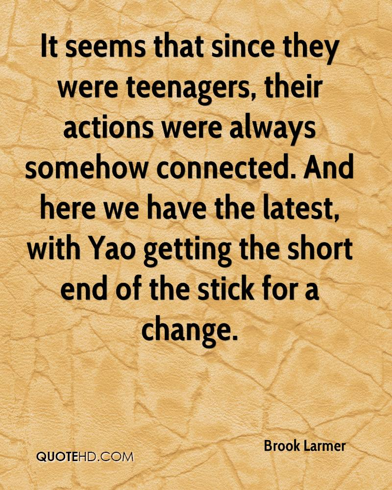 It seems that since they were teenagers, their actions were always somehow connected. And here we have the latest, with Yao getting the short end of the stick for a change.