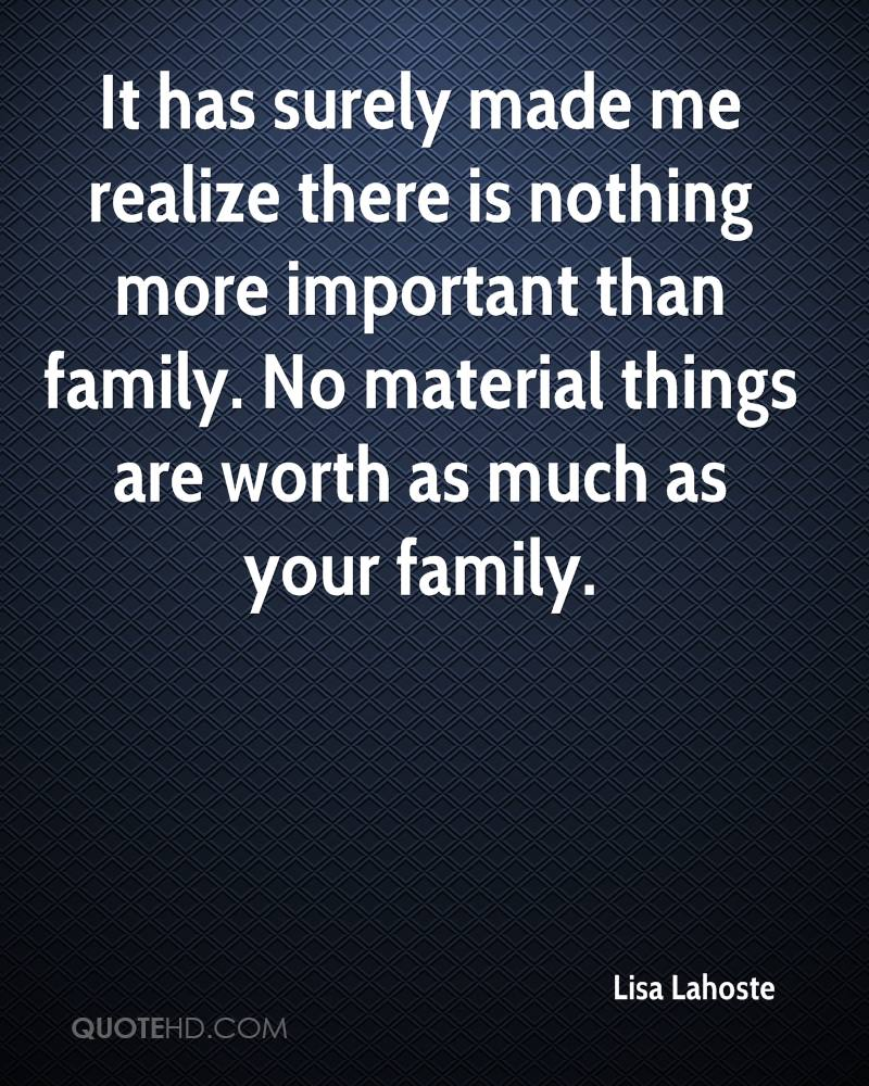 why is family important to me