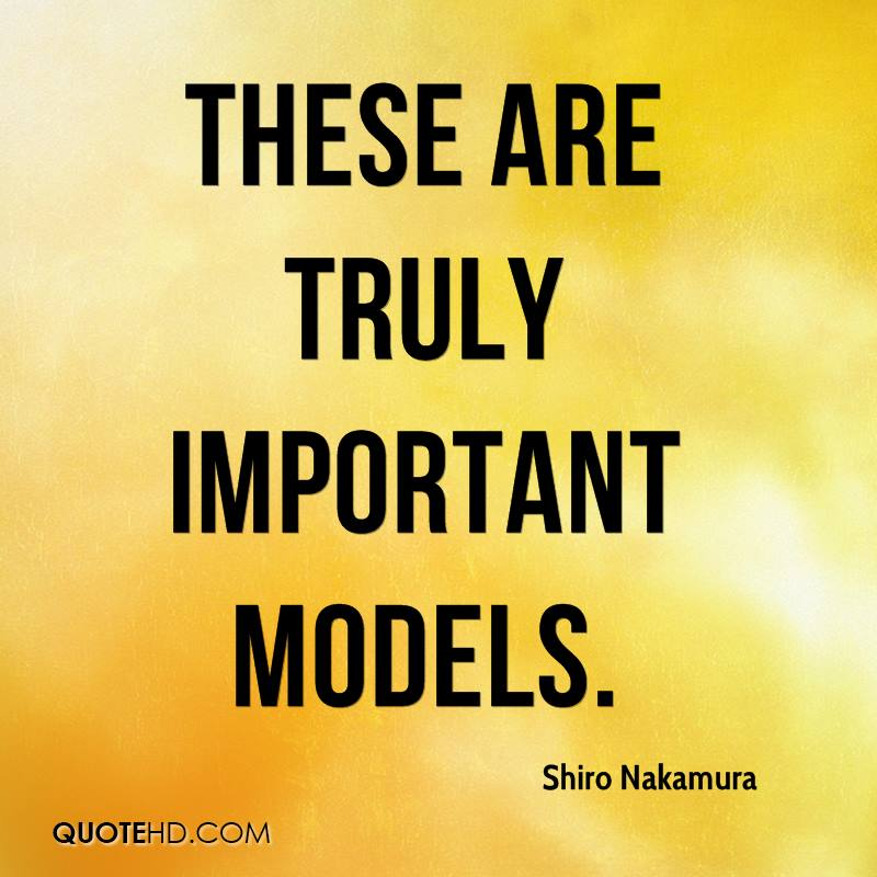 These are truly important models.