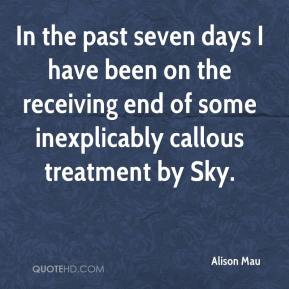 Alison Mau - In the past seven days I have been on the receiving end of some inexplicably callous treatment by Sky.