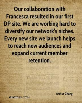 Our collaboration with Francesca resulted in our first DP site. We are working hard to diversify our network's niches. Every new site we launch helps to reach new audiences and expand current member retention.