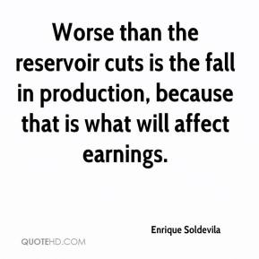 Enrique Soldevila - Worse than the reservoir cuts is the fall in production, because that is what will affect earnings.