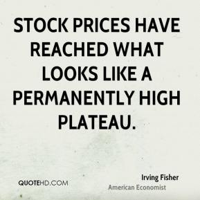 Stock prices have reached what looks like a permanently high plateau.