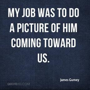 James Gurney - My job was to do a picture of him coming toward us.