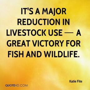 It's a major reduction in livestock use — a great victory for fish and wildlife.