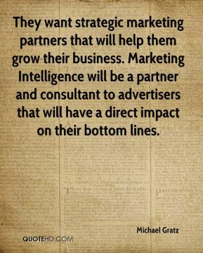 Michael Gratz  - They want strategic marketing partners that will help them grow their business. Marketing Intelligence will be a partner and consultant to advertisers that will have a direct impact on their bottom lines.