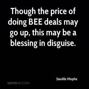 Sandile Hlophe  - Though the price of doing BEE deals may go up, this may be a blessing in disguise.