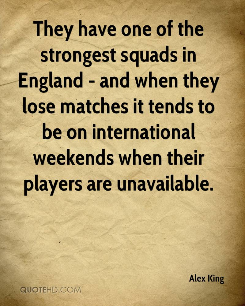 They have one of the strongest squads in England - and when they lose matches it tends to be on international weekends when their players are unavailable.