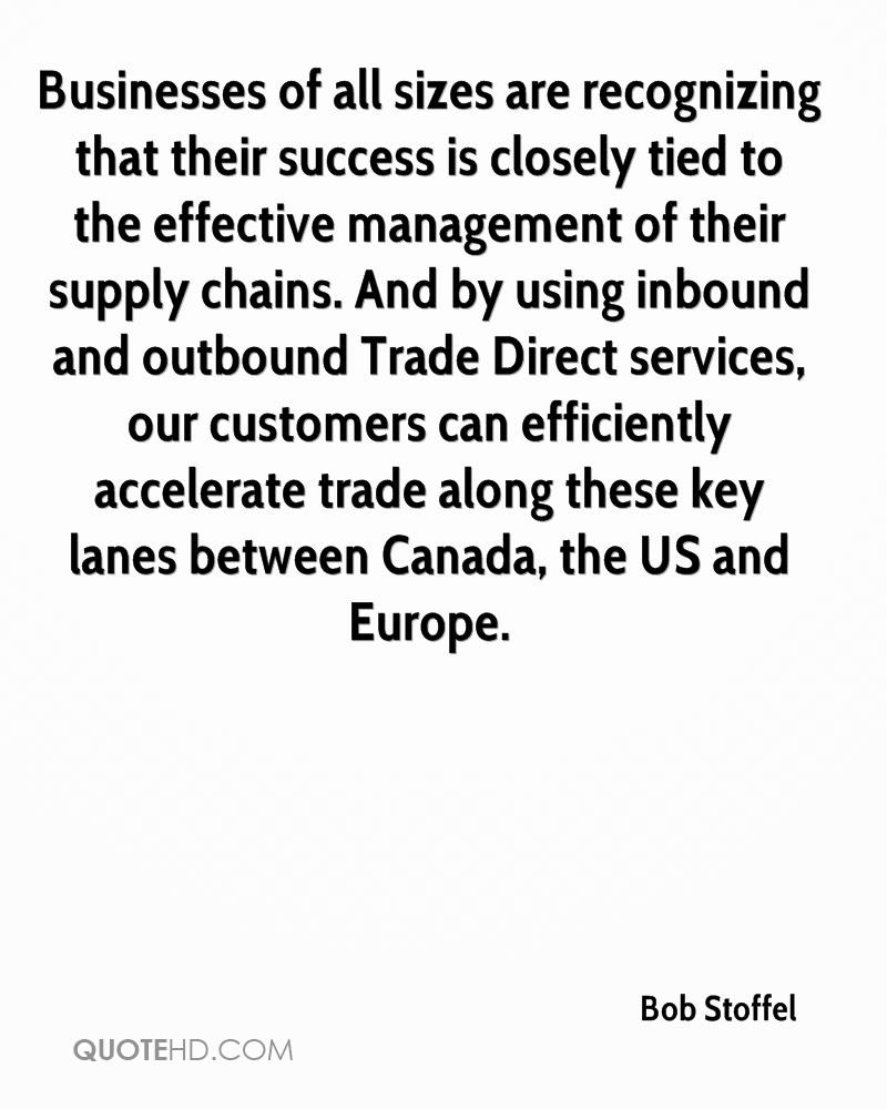 Businesses of all sizes are recognizing that their success is closely tied to the effective management of their supply chains. And by using inbound and outbound Trade Direct services, our customers can efficiently accelerate trade along these key lanes between Canada, the US and Europe.