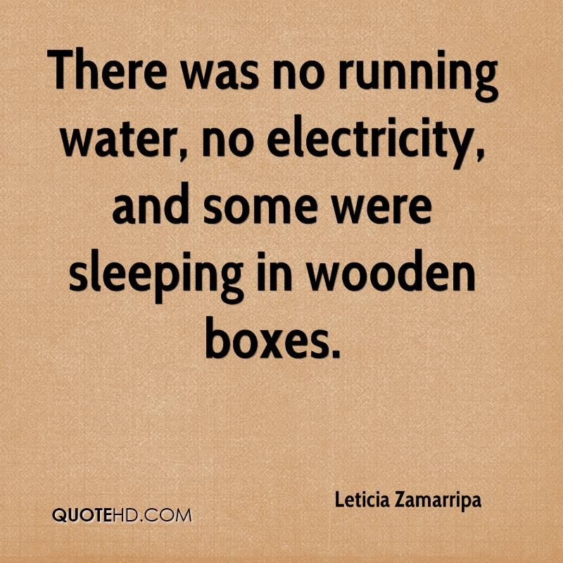 There was no running water, no electricity, and some were sleeping in wooden boxes.