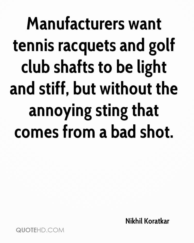 Manufacturers want tennis racquets and golf club shafts to be light and stiff, but without the annoying sting that comes from a bad shot.