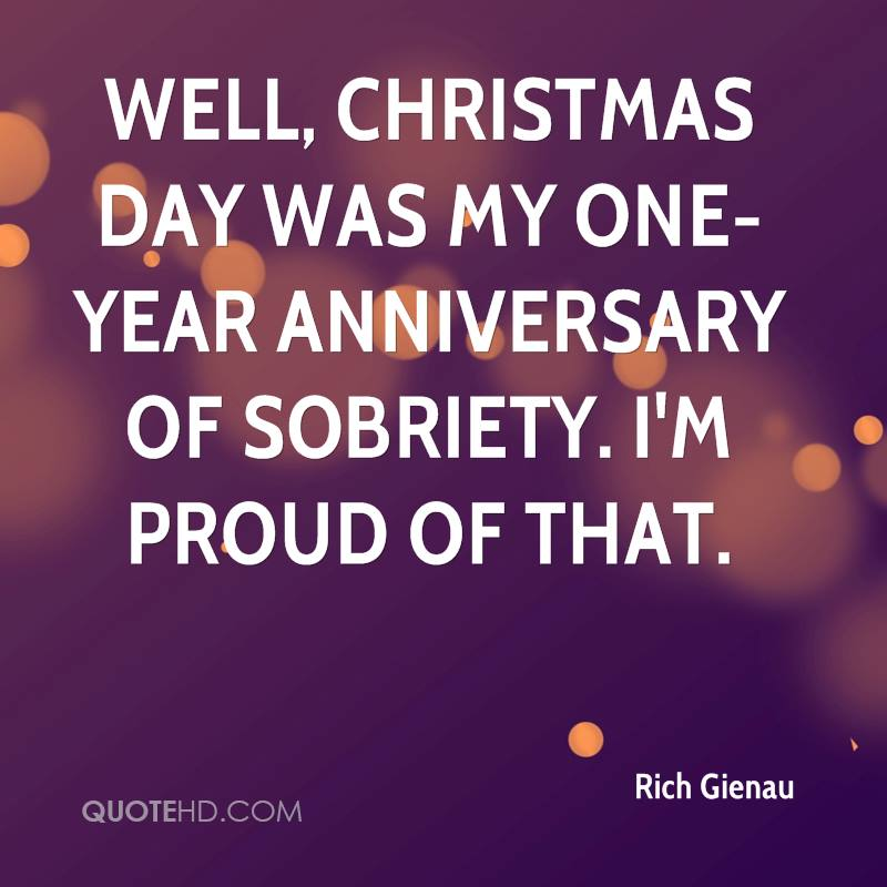One Year Anniversary Quotes: Rich Gienau Christmas Quotes