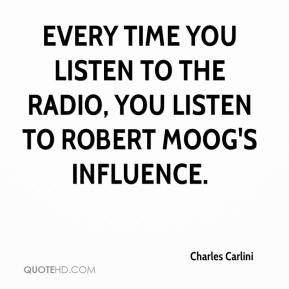 Charles Carlini - Every time you listen to the radio, you listen to Robert Moog's influence.