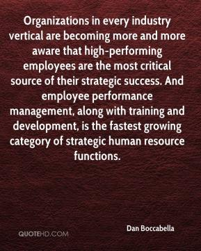 Dan Boccabella - Organizations in every industry vertical are becoming more and more aware that high-performing employees are the most critical source of their strategic success. And employee performance management, along with training and development, is the fastest growing category of strategic human resource functions.