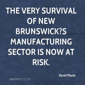 David Plante - The very survival of New Brunswick?s manufacturing sector is now at risk.
