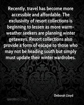 Recently, travel has become more accessible and affordable. The exclusivity of resort collections is beginning to lessen as more warm-weather seekers are planning winter getaways. Resort collections also provide a form of escape to those who may not be heading south but simply must update their winter wardrobes.