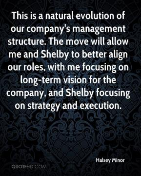 Halsey Minor - This is a natural evolution of our company's management structure. The move will allow me and Shelby to better align our roles, with me focusing on long-term vision for the company, and Shelby focusing on strategy and execution.