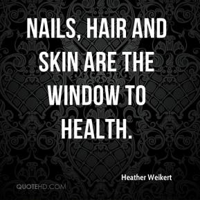 Heather Weikert - Nails, hair and skin are the window to health.