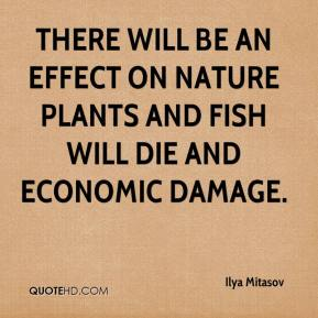 Ilya Mitasov - There will be an effect on nature plants and fish will die and economic damage.
