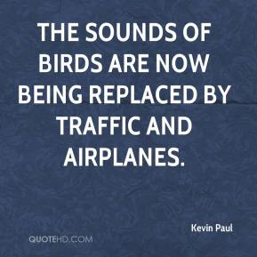 Kevin Paul  - The sounds of birds are now being replaced by traffic and airplanes.