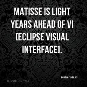 Maher Masri  - Matisse is light years ahead of VI [Eclipse Visual Interface].