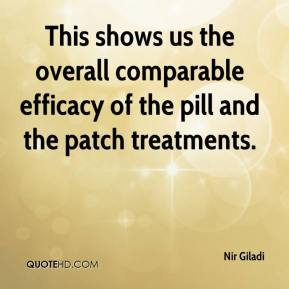 Nir Giladi  - This shows us the overall comparable efficacy of the pill and the patch treatments.