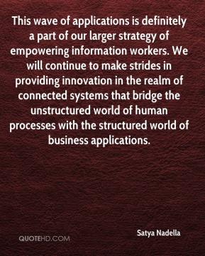 Satya Nadella  - This wave of applications is definitely a part of our larger strategy of empowering information workers. We will continue to make strides in providing innovation in the realm of connected systems that bridge the unstructured world of human processes with the structured world of business applications.