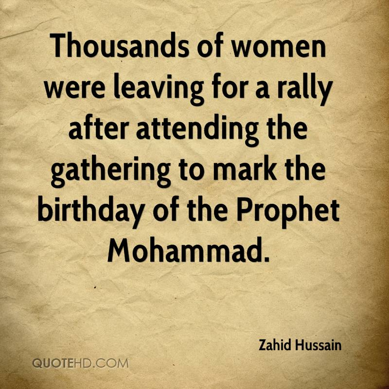 Thousands of women were leaving for a rally after attending the gathering to mark the birthday of the Prophet Mohammad.