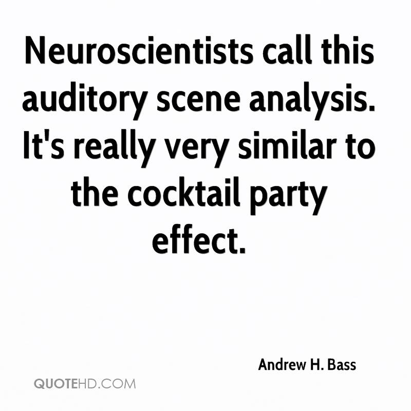 Neuroscientists call this auditory scene analysis. It's really very similar to the cocktail party effect.