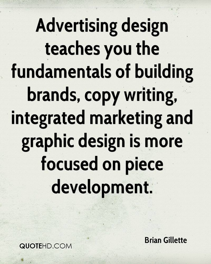 Advertising design teaches you the fundamentals of building brands, copy writing, integrated marketing and graphic design is more focused on piece development.