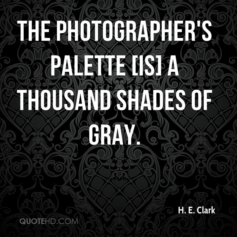 The photographer's palette [is] a thousand shades of gray.