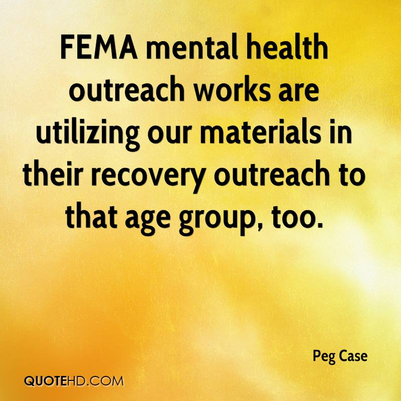FEMA mental health outreach works are utilizing our materials in their recovery outreach to that age group, too.