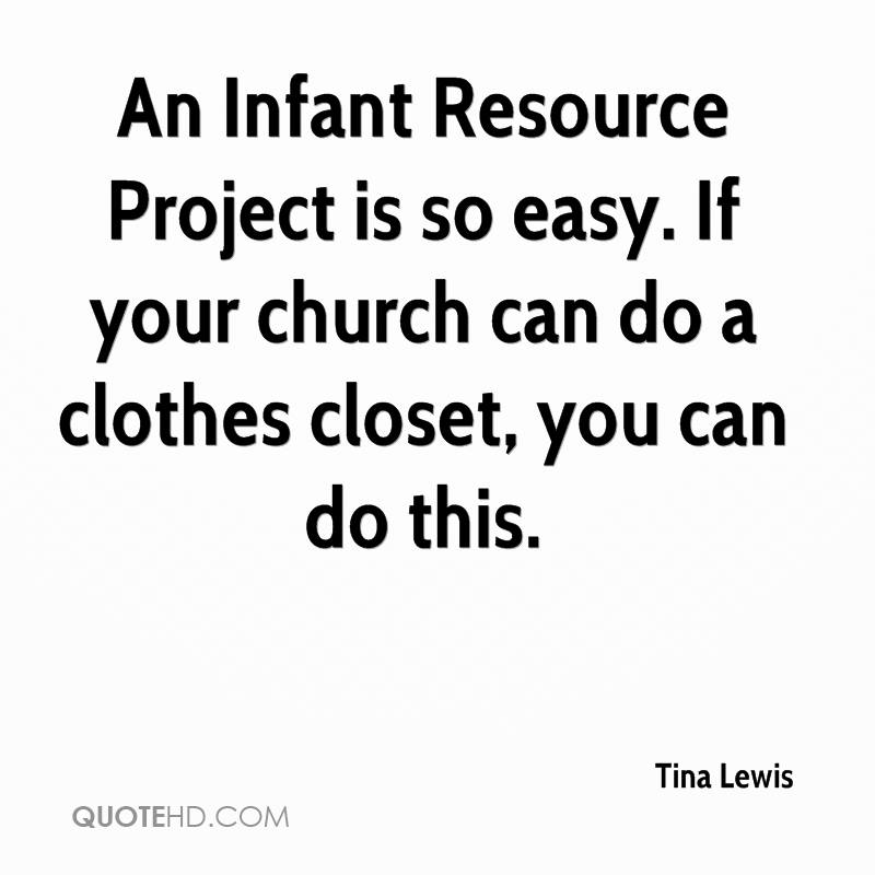 An Infant Resource Project is so easy. If your church can do a clothes closet, you can do this.