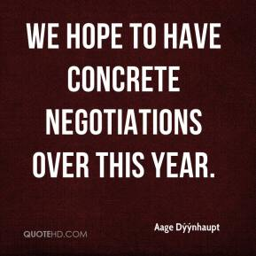 We hope to have concrete negotiations over this year.