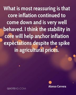 Alonso Cervera - What is most reassuring is that core inflation continued to come down and is very well behaved. I think the stability in core will help anchor inflation expectations despite the spike in agricultural prices.