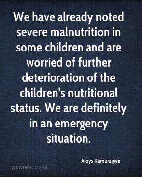 Aloys Kamuragiye - We have already noted severe malnutrition in some children and are worried of further deterioration of the children's nutritional status. We are definitely in an emergency situation.