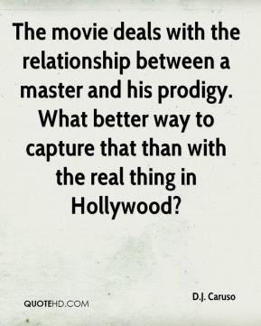 The movie deals with the relationship between a master and his prodigy. What better way to capture that than with the real thing in Hollywood?