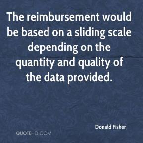 Donald Fisher - The reimbursement would be based on a sliding scale depending on the quantity and quality of the data provided.