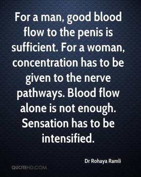 Dr Rohaya Ramli - For a man, good blood flow to the penis is sufficient. For a woman, concentration has to be given to the nerve pathways. Blood flow alone is not enough. Sensation has to be intensified.