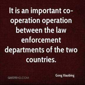 Gong Xiaobing - It is an important co-operation operation between the law enforcement departments of the two countries.