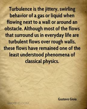 Gustavo Gioia - Turbulence is the jittery, swirling behavior of a gas or liquid when flowing next to a wall or around an obstacle. Although most of the flows that surround us in everyday life are turbulent flows over rough walls, these flows have remained one of the least understood phenomena of classical physics.