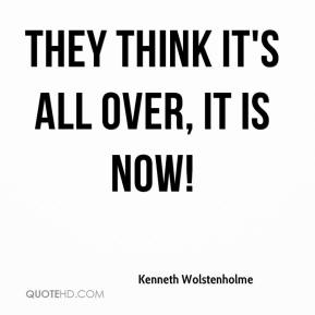 Kenneth Wolstenholme  - They think it's all over, it is now!