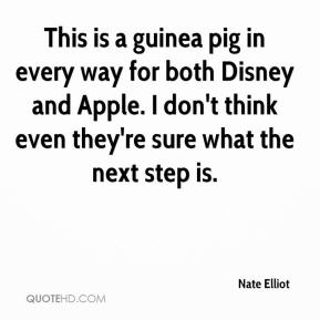 Nate Elliot  - This is a guinea pig in every way for both Disney and Apple. I don't think even they're sure what the next step is.