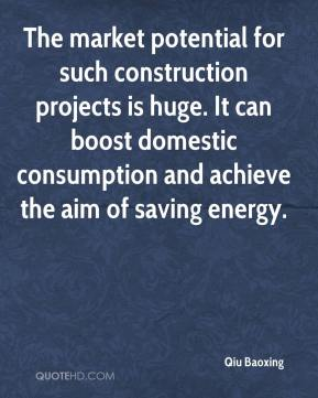 Qiu Baoxing  - The market potential for such construction projects is huge. It can boost domestic consumption and achieve the aim of saving energy.