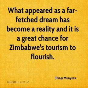Shingi Munyeza  - What appeared as a far-fetched dream has become a reality and it is a great chance for Zimbabwe's tourism to flourish.