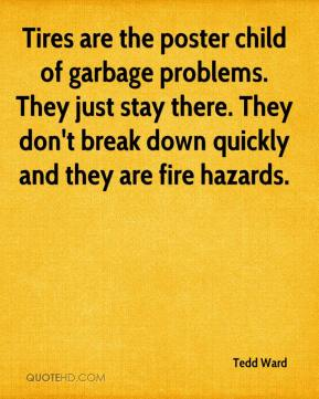 Tedd Ward  - Tires are the poster child of garbage problems. They just stay there. They don't break down quickly and they are fire hazards.