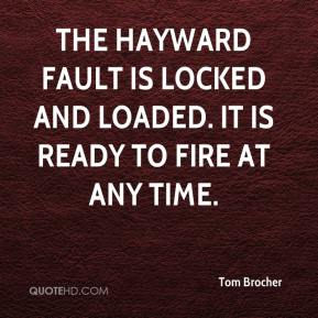 Tom Brocher  - The Hayward Fault is locked and loaded. It is ready to fire at any time.