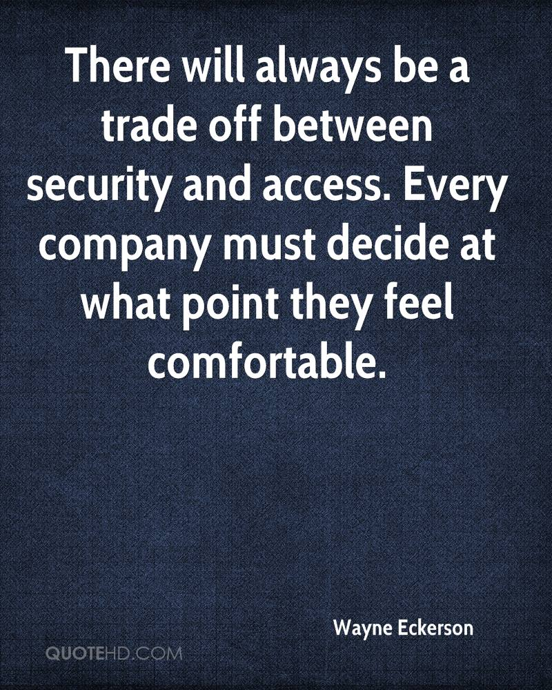 There will always be a trade off between security and access. Every company must decide at what point they feel comfortable.