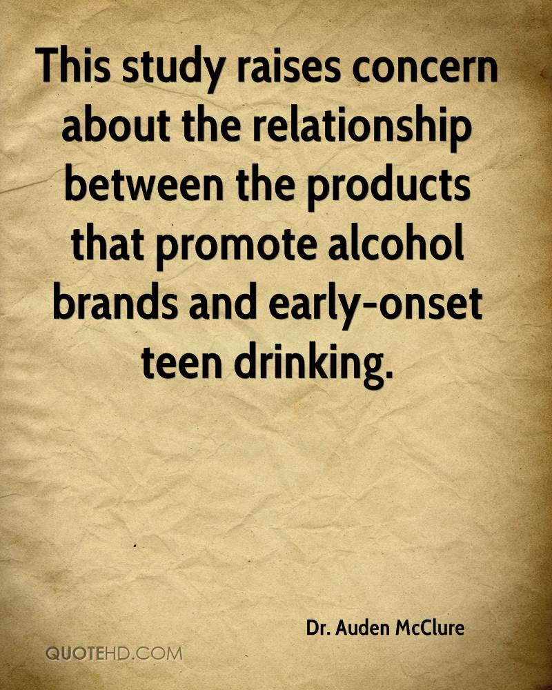 This study raises concern about the relationship between the products that promote alcohol brands and early-onset teen drinking.