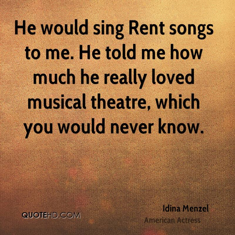 Rent Quotes Fair Idina Menzel Quotes  Quotehd